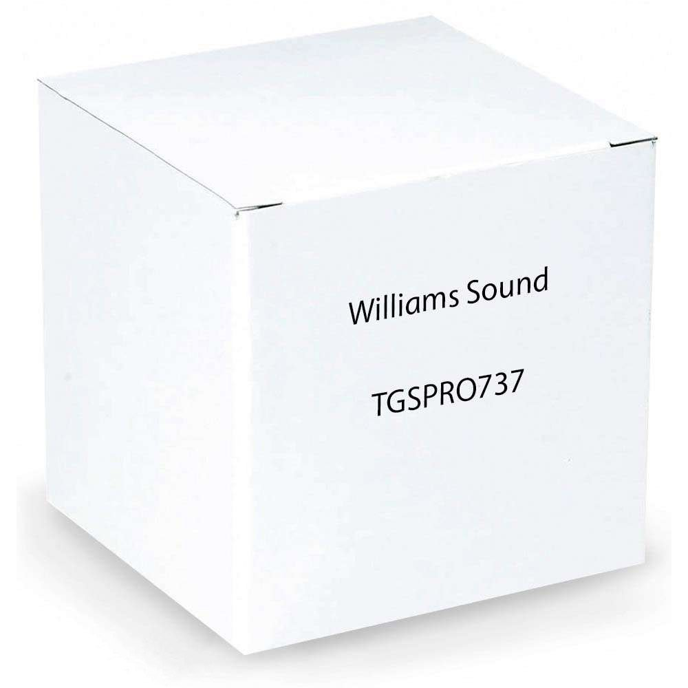 Williams Sound TGS PRO 737 Personal PA FM Tour Guide System; Allows full freedom of movement for tour group; Single-channel, field-tunable receiver; Auxiliary input—broadcast any audio source