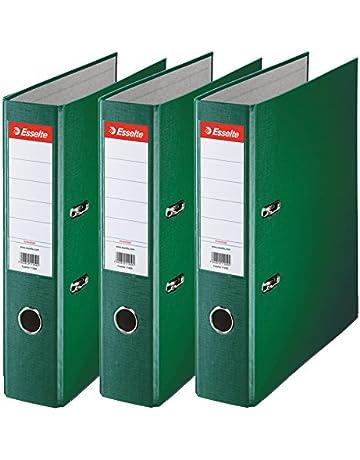 Esselte 624293 - Archivador con anillas (Capacidad 550 hojas, 3 unidades), verde