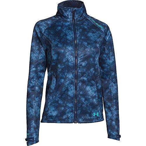 Under Armour Women 's ColdGear infrarrojos softershell chaqueta Noches rusas/Azul impresionante