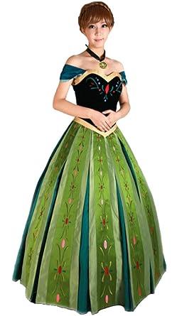e3a713f18c057  YMOS  アナ雪 コスプレ コスチューム アナと雪の女王 ディズニー 仮装 Sサイズ