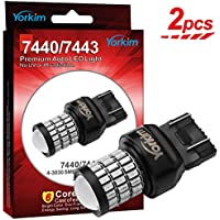 Yorkim Ultra Bright T20 7440 7443 Red Led Bulbs for...