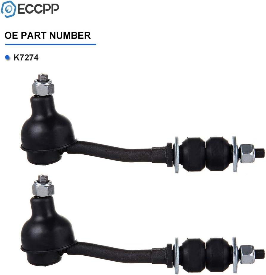 ECCPP Steering Front Sway Bar End Links Stabilizer Bar for 1997-2004 Dodge Dakota 2pc K7274