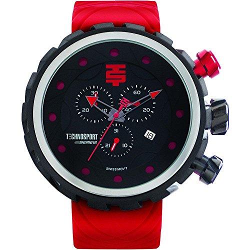 TechnoSport Men's Chrono Watch - Black / Red