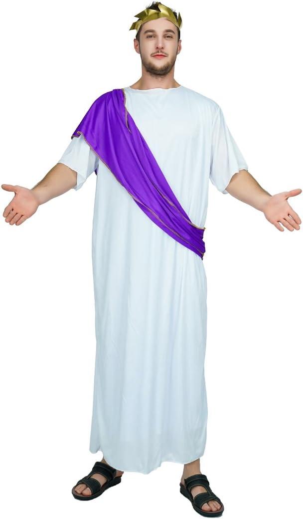 SEA HARE Disfraz de Toga Traje de Emperador Romano para Hombre ...