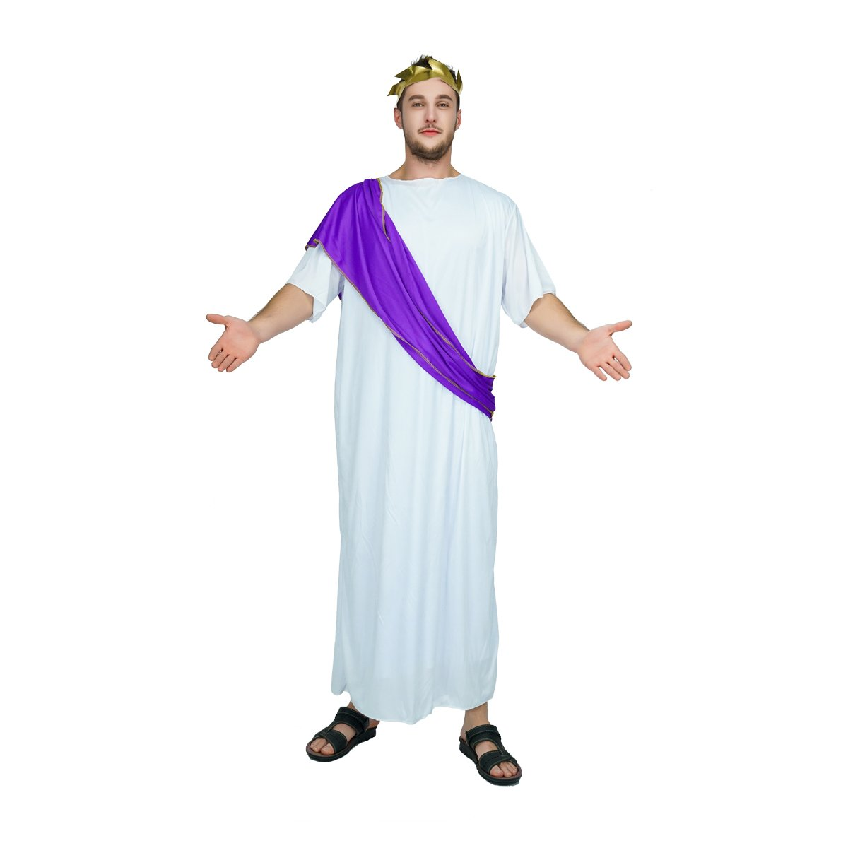 Adults Mens Roman Emperor Fancy Dress Up Party Halloween Costume Outfit New