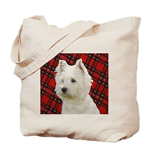 CafePress Westies Are The Besties! Natural Canvas Tote Bag, Cloth Shopping Bag