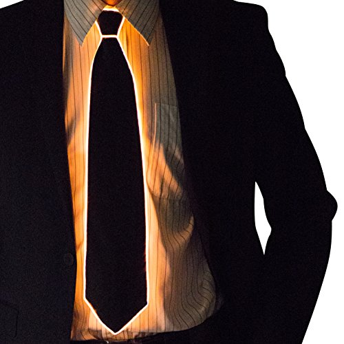 Neon Nightlife Light Up Neck Tie for Men, (Tron Costume Glow Sticks)