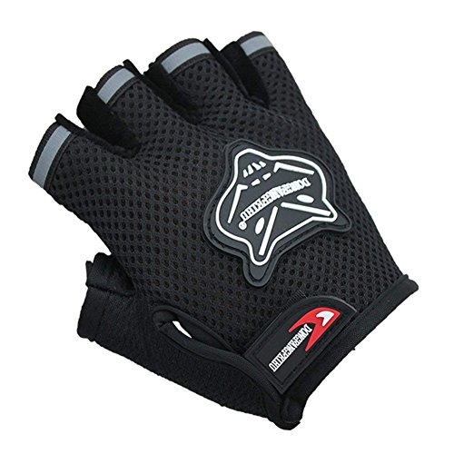 IPENNY Girls Boys Half Finger Cycling Gloves Sport Gym Protective Gloves RacingMitts Non-Slip Gel Breathable Short Finger Summer Gloves Mountain Road Bike Riding Bicycle RunningFox Gloves