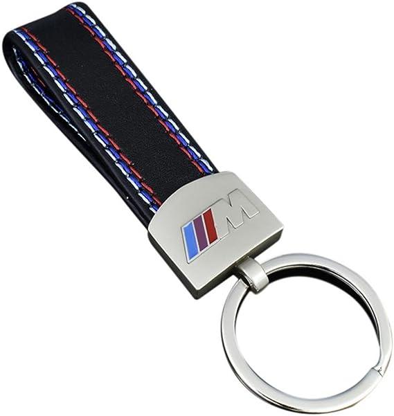Paul03daisy Modischer Schlüsselanhänger Schlüsselring Für Auto Aus Metall Für Bmw M M3 M5 E36 E39 E60 F10 F30 X1 X3 Auto Schlüsselanhänger Universal Zubehör Silber Auto