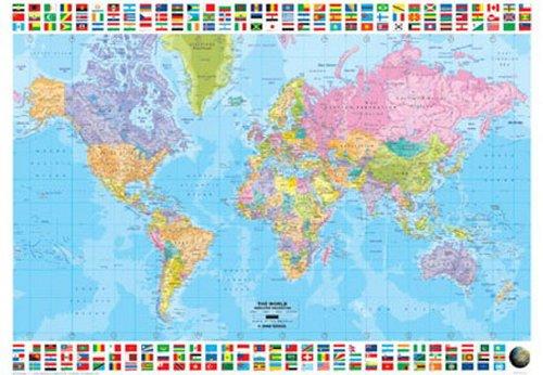 ... Weltkarte - Plakat Poster ...