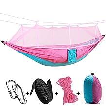 Protable Camping Hammocks Double Hammock Portable Outdoor Garden Mosquito Net Hang BED Travel Camping Swing Survival Hangmat Parachute