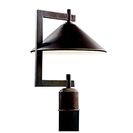 Kichler 49063oz ripley outdoor post mount 1 light olde bronze