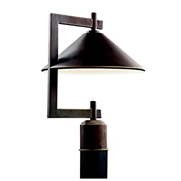 Kichler Lighting 49063OZ Ripley Light Outdoor Post Mount Lantern, Olde  Bronze