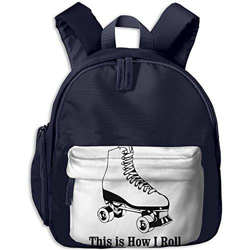 Pocket Design BagThis Is How I Roll Roller Skates Childrens'bag Toddler Preschool Backpack Children CuteBackpacks School (Roll Skate Backpack)
