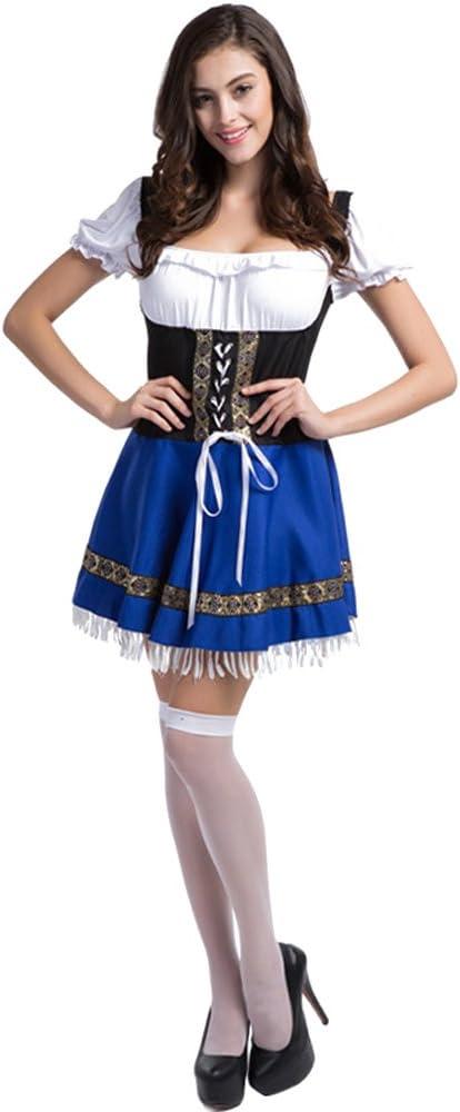 XFentech Vestido de Dirndl para Mujeres gordas,Traje alemán de ...