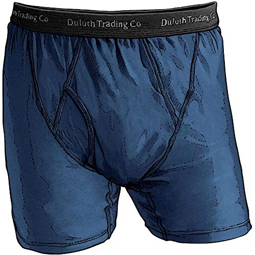 Duluth Trading Company Men's Extra Long Buck Naked Boxer Briefs (Many Colors) (M, Blue)]()