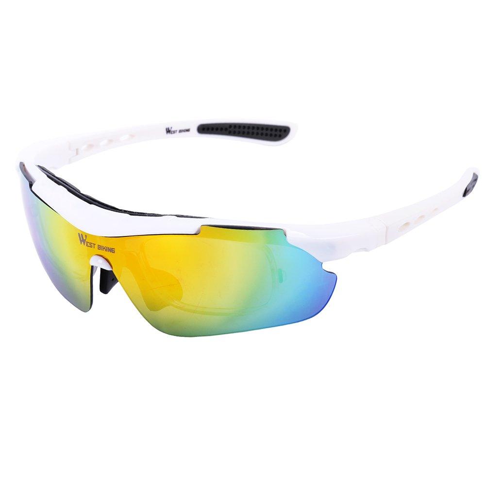 West ciclismo deportes polarizadas gafas de sol con lentes 5 ...