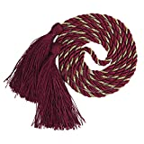 YYC Set of 2 Fringe Tassel Curtain Rope Drapery Holdback Curtain Tie (Wine Red)