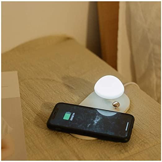 Dimmable Night Lights, Fast Wireless Charger Pad, Touch