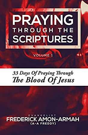 PRAYING THROUGH THE SCRIPTURES: 33 Days of Praying Through the Blood of  Jesus (Volume Book 1)