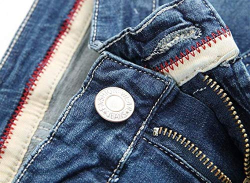 Patch Casual 091 Cowboy Jeans Somiglianza Holes Ssig Classic Moda blau Cotone Straight Old Tinta Denim In Unita Cher Uomo Abbigliamento Da Tee Pantaloni 1qxw8g6