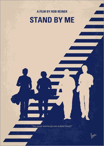 Acrylic print 30 x 40 cm: No429 My Stand by me minimal movie poster by chungkong POSTERLOUNGE