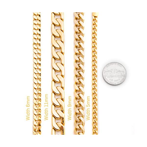 Cuban-Link-Bracelet-11mm-Flat-Wide-Premium-Fashion-Jewelry-Real-24K-Gold-on-Semi-Precious-Metals-Thick-Layers-Help-it-Resist-Tarnishing-100-FREE-LIFETIME-REPLACEMENT-GUARANTEE-8-10-Inches