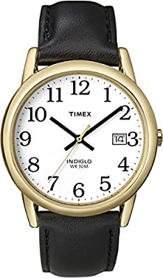 Timex Men's Easy Reader Date Leather Strap Watch from Timex