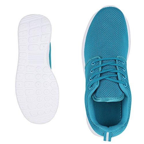 best-boots Unisex Damen Laufschuhe Fitness Sneaker Sport Turnschuhe Türkis Nuovo