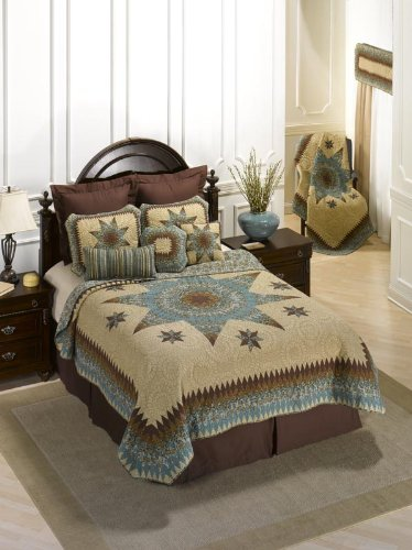 Donna Sharp Sea Breeze Star Quilted Cotton Valance or Runner