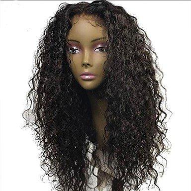 Pelo Humano peluca de encaje brasileño pelo humano sin pegamento Lace Front 130% densidad con