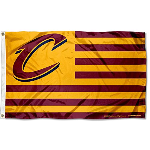 WinCraft Cleveland Cavaliers Americana Stripes Nation 3x5 Flag ()