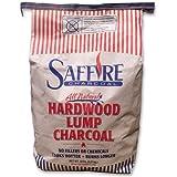 Saffire LUMP CHARCOAL 20-Pound Bag of All Natural Lump Hardwood Charcoal