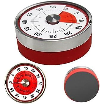 Amazon.com: Unique Kitchen Timer 60 Minute with Loud Alarm ...