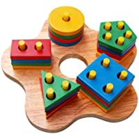 Little Genius Button Hole Shape Sorter, Multi Color