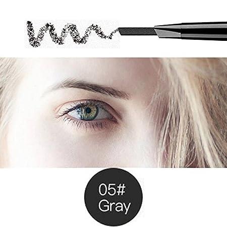 Magical Halo di precisione Liner fronte impermeabile doppia matita sopracciglio chiuso con le spazzole sopracciglio strumenti 5 colori marrone scuro confezione da 1
