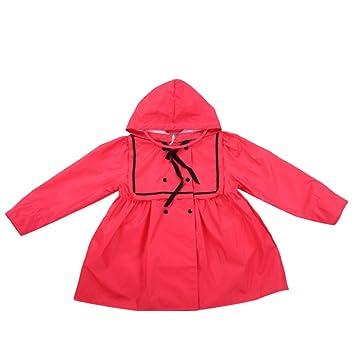 Maybesky Chaqueta de Lluvia para niños Tipo de Falda roja ...