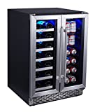 Phiestina Built In Wine and Beverage Cooler with French Door