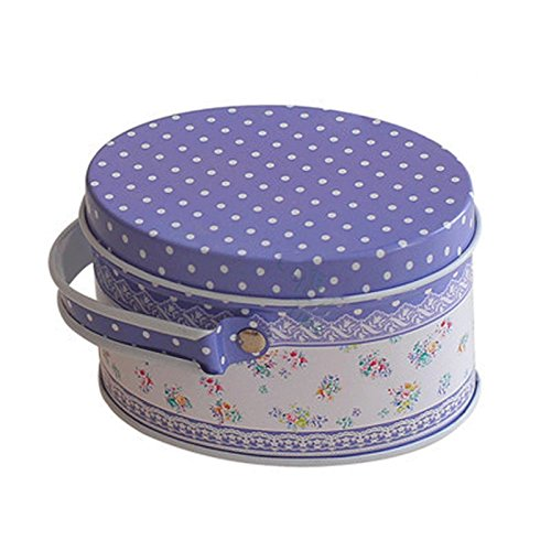 MONOMONO-Portable Oval Shape Tin Metal Handbag Jewelry Gift Box Coin Bag Storage Candy (6) (Godiva Chocolate Wedding Favors)