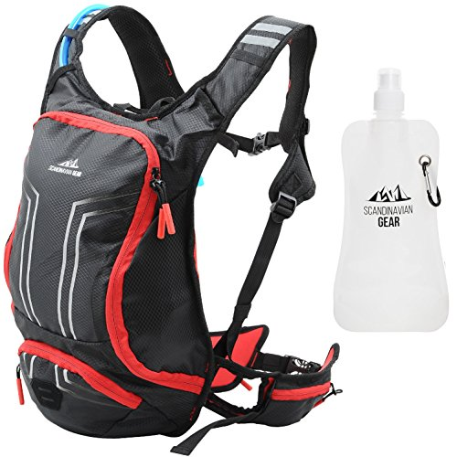 Hydration Pack With 70oz (2l) Bladder & Foldable Water Bottle & Cleaning Tablets