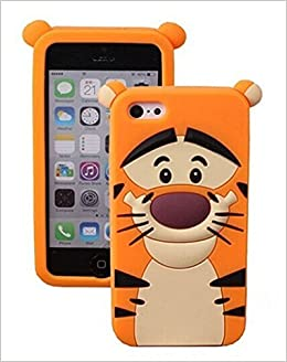 af5f3a58ee iphone 6 Plus Case iphone 6S Plus Tiger Silicone Case,MODEFAN Cute Cartoon  Yellow Tiger Figure Soft Silicone Gel Rubber Case Cover Skin for Apple  Iphone 6 ...