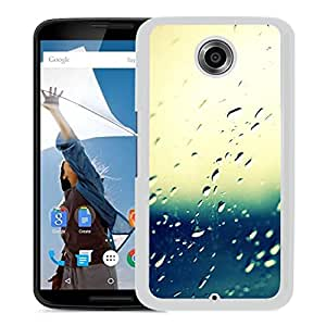 New Beautiful Custom Designed Cover Case For Google Nexus 6 With Window Rain (2) Phone Case