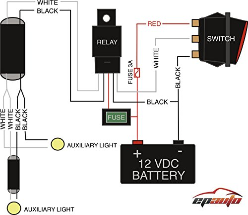 51EgVI rJ2L amazon com epauto led light bar wiring harness kit, 40a relay led light bar wiring diagram at gsmx.co