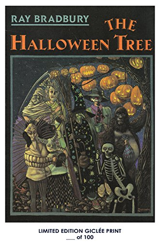 RARE POSTER thick THE HALLOWEEN TREE vintage 1972 book COVER REPRINT #'d/100!! 12x18