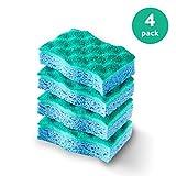 Vileda Multi-Use No Scratch Scrunge Scrub Sponge (Pack of 4)