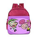 Toddler Kids The Fairly Oddparents School Backpack Fashion Style Children School Bag Pink
