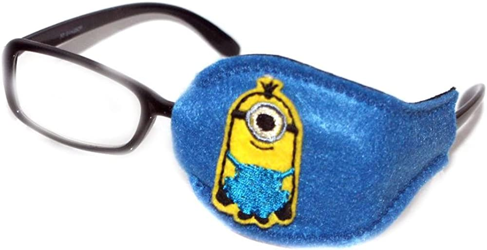 Kids and Adults Orthoptic Eye Patch For Amblyopia Lazy Eye Occlusion Therapy Treatment Design #22 Min on Blue