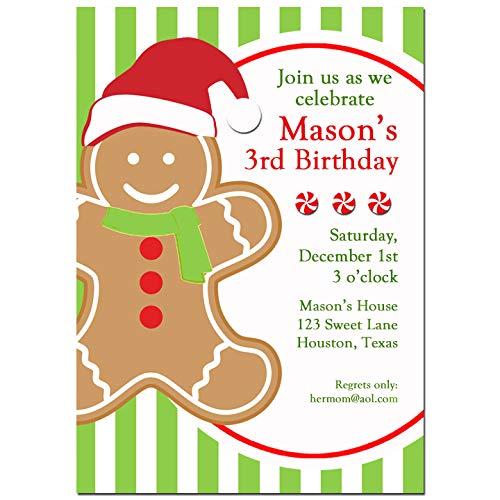 amazon com christmas party invitation gingerbread boy christmas