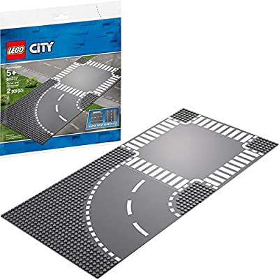 LEGO City Curve and Crossroad 60237 Building Kit (2 Pieces): Toys & Games