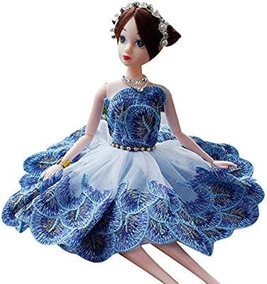 Vestido de novia princesa ropa fiesta traje para Barbie muñeca ...